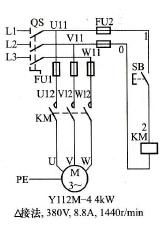 东莞电机点动控制线路图