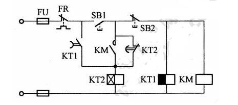 防止电压波动造成电动机不转动的保护电路说明