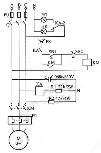 东莞电机的缺相和错相保护电路图说明