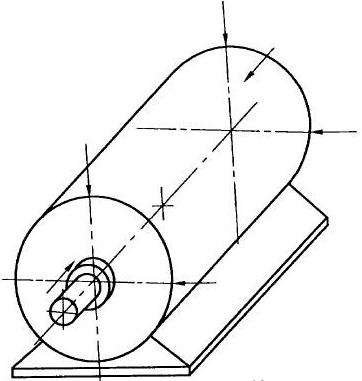 图2:不可拆卸零部件电机不能按图1测量时的测量点