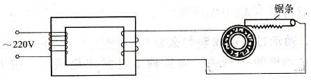 电火花处理电机轴承松动故障示意图