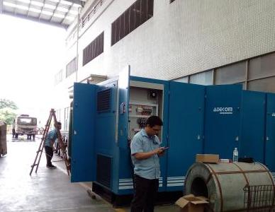 东莞电机厂高压软启空压机测试项目3