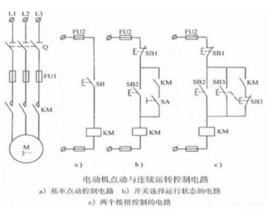 电动机电动与连续运转控制电路