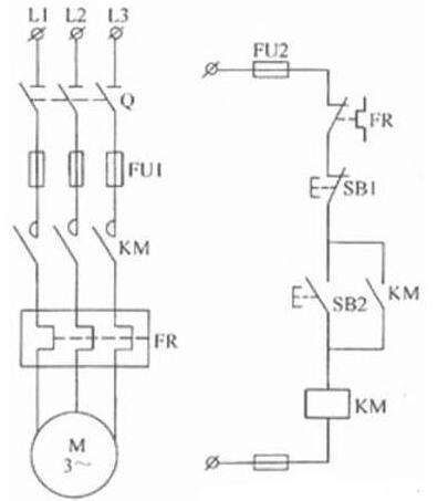 电动机自锁电路图