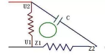 220v电机接电容的接线