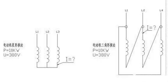 电机每根电线电流怎么算?