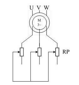 绕线式异步电动机串电阻调速主电路