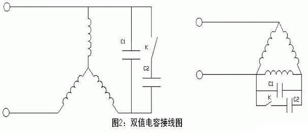 东莞电机双值电容接线图