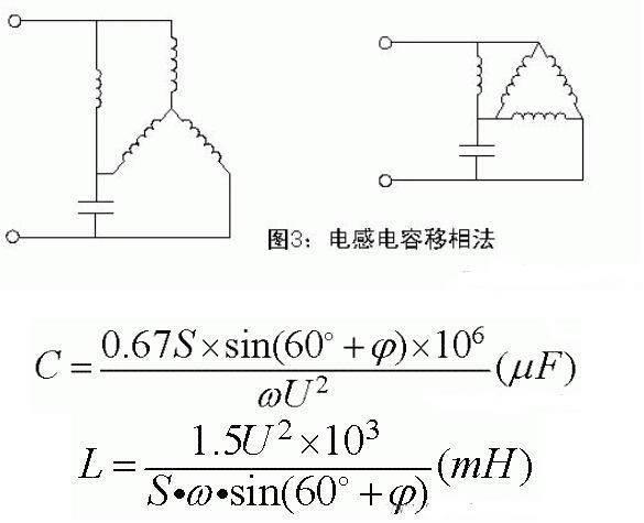 东莞电机-电感电容移相法及公式