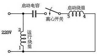 电动机以运行绕组线圈继续动作