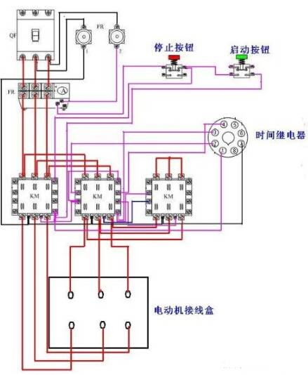 东莞电机星三角(Y-△启动)电路图