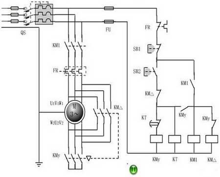 三相异步电动机星三角降压启动原理