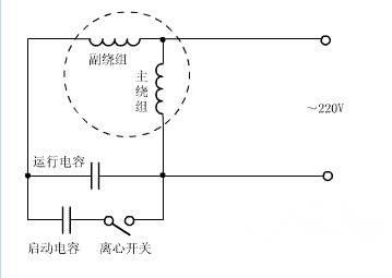 单相双电容电动机接线图
